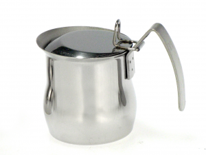 ASTESANI Bricco acciaio inox bombato con coperchio tazzine 12 Colazione