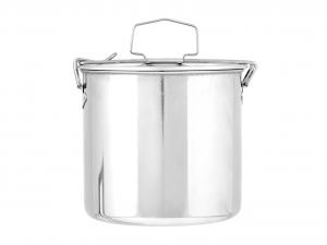 ASTESANI Portavivande tondo acciaio inox cm14 Contenitori cucina barattoli