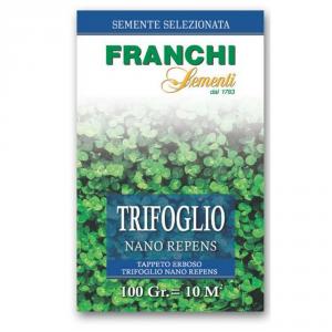 FRANCHI SEMENTI Semente per tappeti erbosi trifoglio repens nano gr. 100