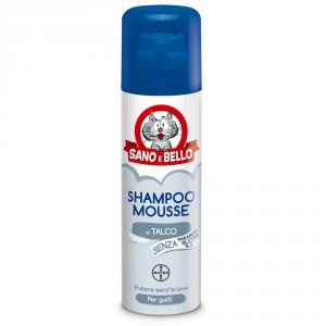 SANO E BELLO Shampoo mousse a secco per gatto ml. 200 - Igiene gatto