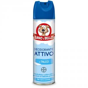 SANO E BELLO Deodorante per cane attivo al talco ml. 250 - Igiene toeletta cane