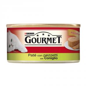 PURINA Rosso Lattina 195 Gr. Patè Con Coniglio A Pezzetti Umido Gatto