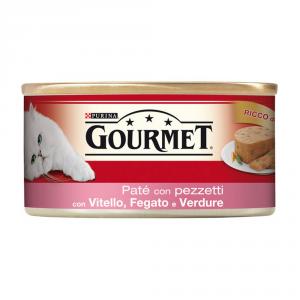 PURINA Rosso Lattina 195 Gr. Patè Con Vitello Fegato E Verdure Umido Gatto