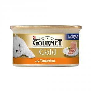 PURINA Gold Mousse Con Tacchino Umido Gatto Gr. 85 Mangimi Umidi Per Gatti