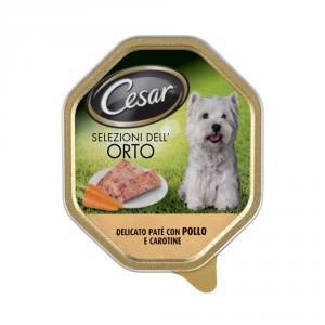 CESAR Patè con pollo e carotine umido cane gr. 150 - Mangimi umidi per cani