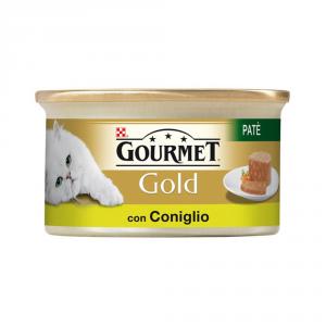 PURINA Gold Patè Con Coniglio Umido Gatto Gr. 85 Mangimi Umidi Per Gatti