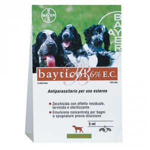 BAYER PET CARE Antiparassitario per cane bayticol 6% e.c. bayer ml. 5