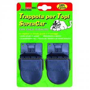 SWISSINNO Supercat trappola per topi con esca naturale pz. 2 - Topicidi trappole