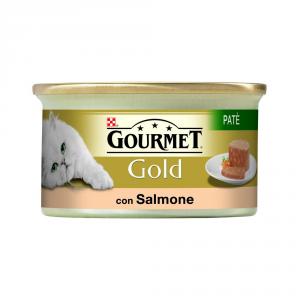 PURINA Gold Patè Con Salmone Umido Gatto Gr. 85 Mangimi Umidi Per Gatti
