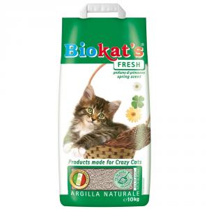 BIOKAT'S Lettiera per gatti fresh kg. 10 - Sabbie per gatti
