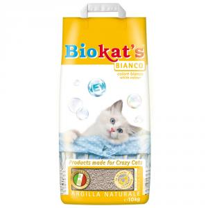 BIOKAT'S Lettiera per gatti bianco kg. 10 - Sabbie per gatti