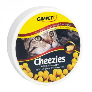 GIMPET Snack per gatto cheezies - palline al formaggio gr. 100 - Snack per gatto
