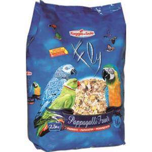RAGGIO DI SOLE Pappagalli fruits kg. 2,5 - Alimenti uccelli