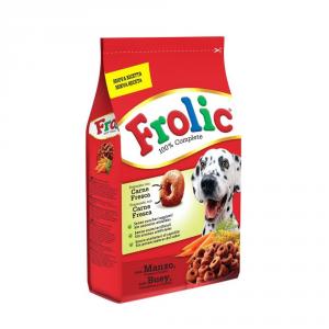 Set  5 FROLIC Complete con manzo carote e cereali secco cane kg. 1,5