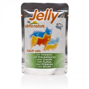 Set  24 ALMO NATURE Jelly tonno in gelatina gatto gr. 70 - Mangimi umidi per gatti