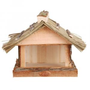 COUNTRY STYLE Mangiatoia Per Uccelli Con Tetto In Paglia 23X25