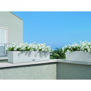 LECHUZA Balconera cottage con set di irrigazione bianco cm. 80