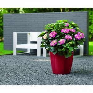 LECHUZA Vaso classico con set di irrigazione rosso cm. 28