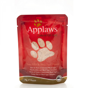 APPLAWS Cat Natural Food In Busta Con Tonno E Gamberetti Umido Gatto Grammi 70