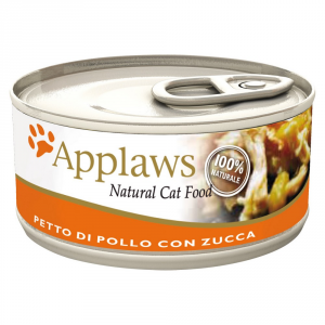 APPLAWS Cat Natural Food Lattina Con Pollo E Zucca Umido Gatto Grammi 70
