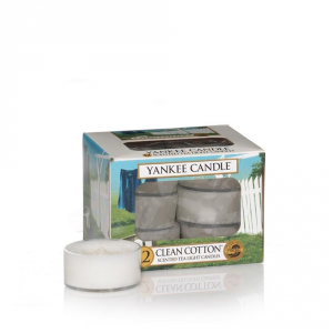 YANKEE CANDLE Tea Lights Profumata Clean Cotton Candela Profumata