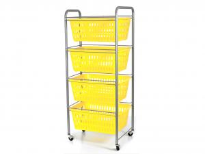 ARTEX Carrello siena 4 cesti colori assortiti Contenitori e sistemazione armadio