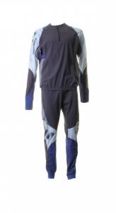 BRIKO VINTAGE Completo 2 pezzi sci fondo uomo KATANA grigio blu 010265--.01
