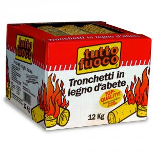 TUTTO FUOCO Tronchetti Legno Abete Legna/Tronchetti/Carbone Verde & Soluzioni