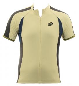 BRIKO T-shirt ciclismo spinning uomo mezza zip ZENITH crema blu nero 010375--DB