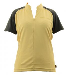 BRIKO T-shirt ciclismo spinning donna ZION B-CONCEPT giallo nero 010423--JH