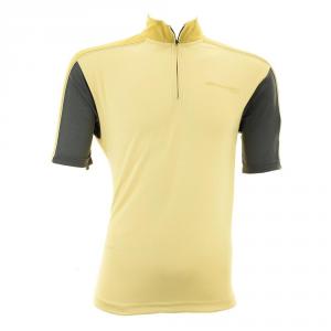 BRIKO T-shirt ciclismo spinning uomo zip corta MOMENTUM beige grigio 010406-JH