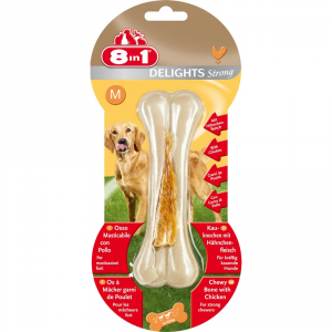 TETRA Snack per cani delights strong osso m gr. 100 - Snack per cani