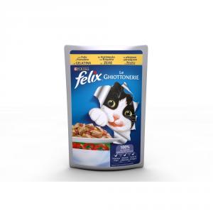 FELIX Le ghiottonerie con polle e pomodori umido gatto gr. 100