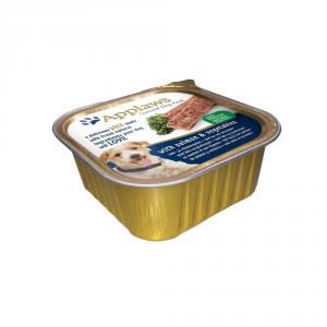 APPLAWS Dog Patè In Vaschetta Con Salmone E Verdure Umido Cane Grammi 150