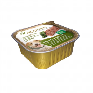 APPLAWS Dog Patè In Vaschetta Con Verdure In Umido Per Cane Grammi 150