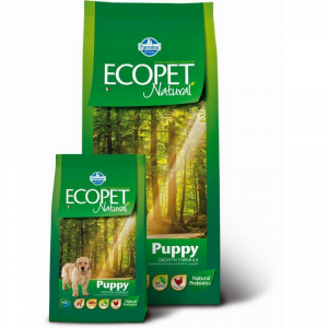 ECOPET NATURAL Puppy con pollo secco cane kg. 12 - Mangimi secchi per cani