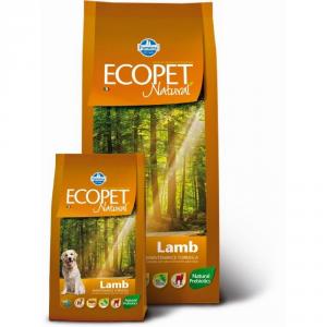 ECOPET NATURAL Adult con agnello secco cane kg. 12 - Mangimi secchi per cani