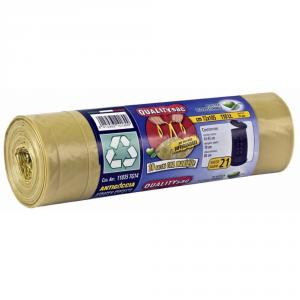QUALITY SAC Sacco per raccolta differenziata con maniglie giallo 110lt