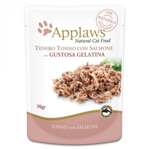 APPLAWS Cat Natural Food In Busta Gelatina Di Tonno E Salmone Gatto Grammi 70