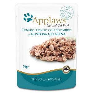 APPLAWS Cat Natural Food In Busta Gelatina Di Tonno E Sgombro Gatto Grammi 70