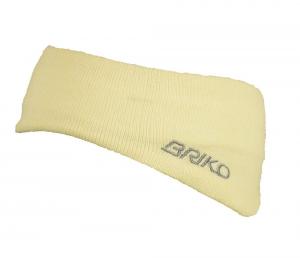 BRIKO Fascia unisex bianca 012909 lana e cotone interno rivestito