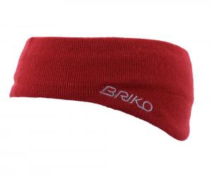 BRIKO Fascia unisex rossa 012909 lana e cotone interno rivestito