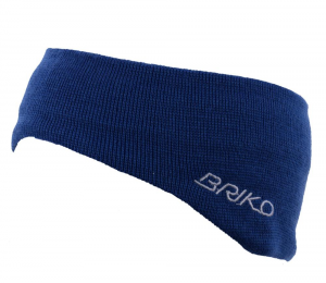 BRIKO Fascia unisex blu 012909 lana e cotone interno rivestito