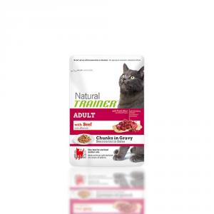 TRAINER Natural bocconcini in salsa al manzo 85gr - Mangimi umidi per gatti