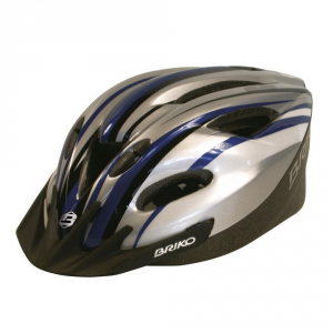BRIKO Casco ciclismo bike unisex MELTEMI blu argento nero 013566----I1