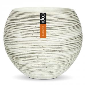 CAPI EUROPE Vaso a sfera capi indoor avorio 10cm - Vasi da interno ceramica
