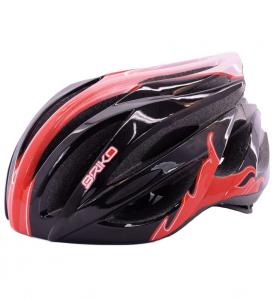 BRIKO Casco ciclismo bike unisex WAVE nero rosso 013582--V3 #
