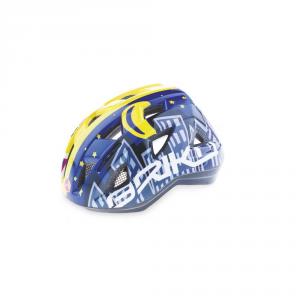 BRIKO Casco ciclismo bike junior in-moulding technology PAINT blu giallo 013594