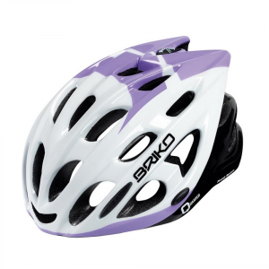 BRIKO Casco ciclismo unisex in-moulding technology QUARTER bianco lilla 013593