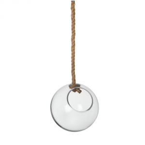 AGRICOLA Deco Glass Ball Hanging Sil H1 Arredamento